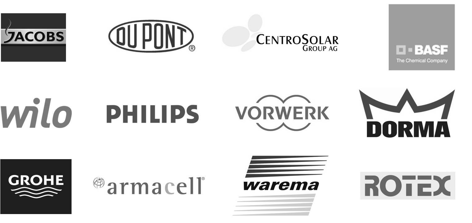 Übersicht der Logos der BMS-Kunden