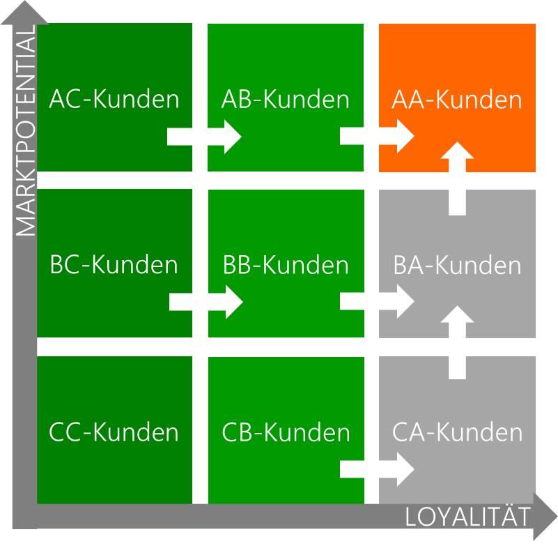 Grafik Marktvolumen + Kundenloyalität